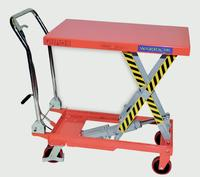 Warrior Manual Mobile Lift Tables: click to enlarge