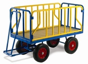 Turntable Trailers with Tubular Supports - Steel Deck
