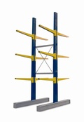 Double Sided BCR100 series Cantilever Racking - Height 4940mm