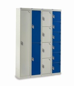 Express Lockers H1800 x W300 x D450mm Light Grey Doors