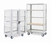 Mobile Storage Shelving - Plywood Shelves