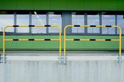 TRAFFIC - LINE Steel Hoop Guards - Wall Fixing (Removable)