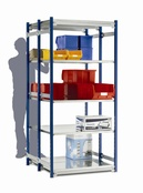 Toprax 1500mm Shelving - 870mm Wide Shelves - Standard Double Bays