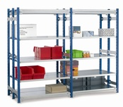 Toprax 1500mm Shelving - 970mm Wide Shelves - Standard Double Bays